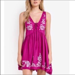 NWT Free People Embroidered Aida Slip Dress